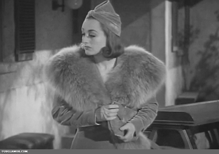 Joan Crawford In Fur Fur Glamor